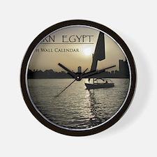 Modern Egypt Calendar Wall Clock