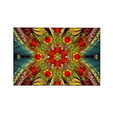 Fractal Elliptic Splits Kaleidosc Rectangle Magnet