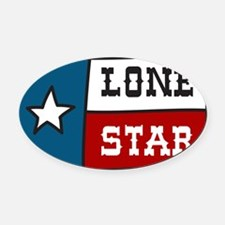 Lone Star Oval Car Magnet