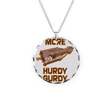 More Hurdy Gurdy Necklace Circle Charm