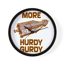 More Hurdy Gurdy Wall Clock