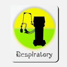 Respiratory shirts phones yellow Mousepad