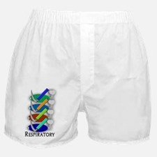 respiratory vertical CLEAR WHITE Boxer Shorts