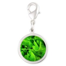 Lettuce Silver Round Charm