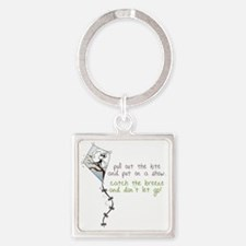 Catch The Breeze Square Keychain