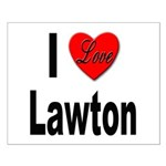 I Love Lawton Small Poster