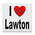 I Love Lawton Tile Coaster