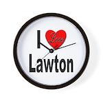 I Love Lawton Wall Clock