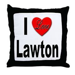 I Love Lawton Throw Pillow