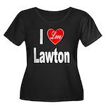 I Love Lawton (Front) Women's Plus Size Scoop Neck