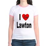 I Love Lawton (Front) Jr. Ringer T-Shirt