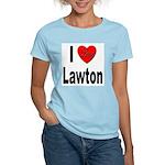 I Love Lawton (Front) Women's Light T-Shirt