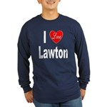 I Love Lawton (Front) Long Sleeve Dark T-Shirt