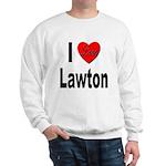 I Love Lawton (Front) Sweatshirt
