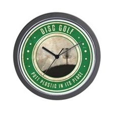 Putt Plastic In Its Place #10 Wall Clock