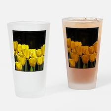 Yellow Tulips Drinking Glass