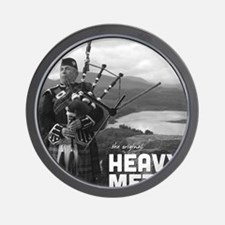 Heavy Metal Bagpipes Wall Clock