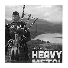 Heavy Metal Bagpipes Tile Coaster