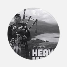 Heavy Metal Bagpipes Round Ornament
