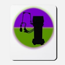 respiratory shirts purple green Mousepad