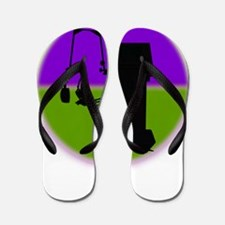respiratory shirts purple green Flip Flops