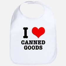 I Heart (Love) Canned Goods Bib