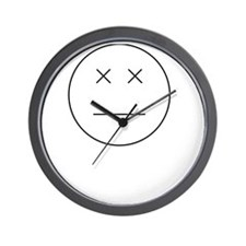 Face Blind White Wall Clock