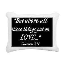 Colossians 3:14 Rectangular Canvas Pillow