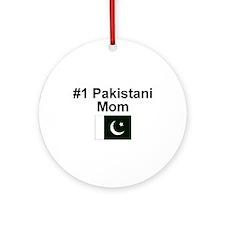 #1 Pakistani Mom Ornament (Round)