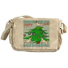 Jack Russell Terrier Christmas Card Messenger Bag