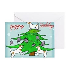 Jack Russell Terrier Christmas Card Greeting Card