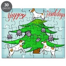 Jack Russell Terrier Christmas Card Puzzle