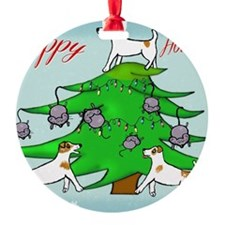 Jack Russell Terrier Christmas Card Ornament