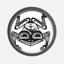 Smiling Native Frog Wall Clock