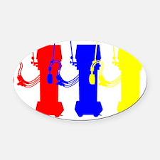 vent shirt 3 colors Oval Car Magnet