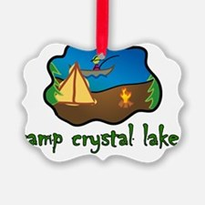 camp crystal lake truck stop vaca Ornament