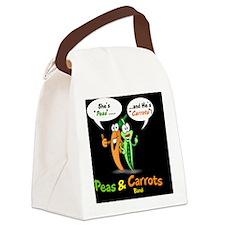 PNCB_logo_laptop_hooked_black_bac Canvas Lunch Bag