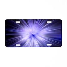 Iced Blue Star Aluminum License Plate