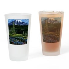 Mt Rainier Drinking Glass