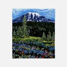 Mt Rainier Throw Blanket