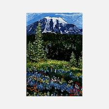 Mt Rainier Rectangle Magnet