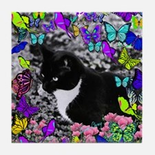 Freckles in Butterflies II Tile Coaster