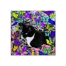 """Freckles in Butterflies II Square Sticker 3"""" x 3"""""""