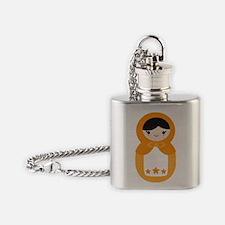 Matryoshka Doll - Orange Flask Necklace