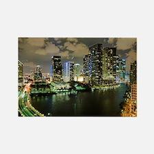 Miami @ Night Rectangle Magnet