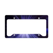Iced Blue Star License Plate Holder