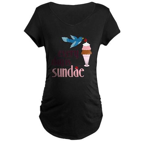 Every Day Is Sundae Maternity Dark T-Shirt