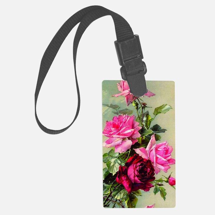 Vintage Victorian Rose Iphone 3  Luggage Tag