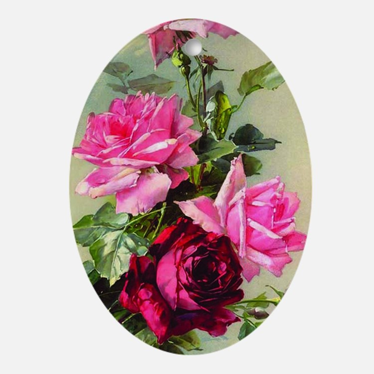 Vintage Victorian Rose Iphone 3 hard Oval Ornament