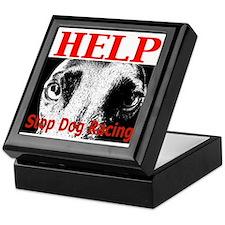 Stop Dog Racing Keepsake Box